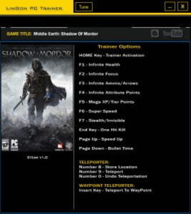 Middle-earth: Shadow of Mordor Trainer +13 v1.0 {LinGon}