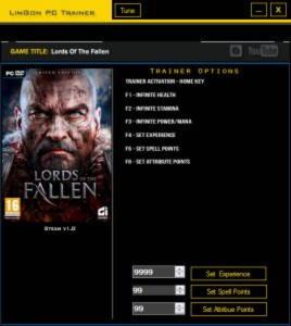 Lords of the Fallen Trainer +6 v1.0 {LinGon}