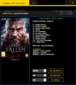 Lords of the Fallen Trainer +14 v1.1 {LinGon}
