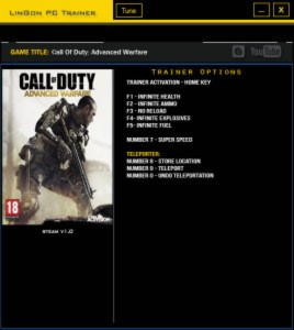 Call of Duty: Advanced Warfare Trainer +8 v1.0 {LinGon}