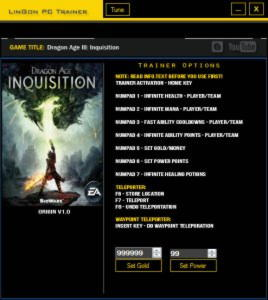 Dragon Age: Inquisition Trainer +10 v1.0 {LinGon}