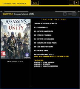 Assassin's Creed: Unity Trainer +10 v1.3.0 {LinGon}