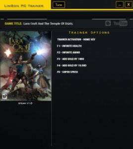 Lara Croft and the Temple of Osiris Trainer +5 v1.0 {LinGon}