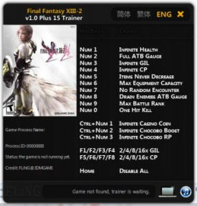 Final Fantasy 13-2 Trainer +15 v1.0 {FLiNG}
