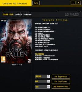 Lords of the Fallen Trainer +14 v1.4 {LinGon}