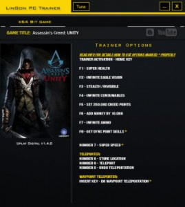 Assassin's Creed: Unity Trainer +12 v1.4.0 {LinGon}