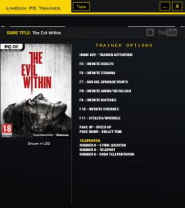 The Evil Within Trainer +11 v1.03 {LinGon}