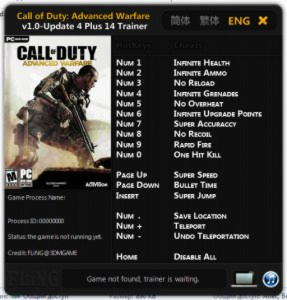Call of Duty: Advanced Warfare Trainer +14 v1.0 Up 4 {FLiNG}