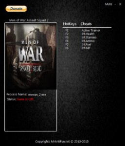 Men of War: Assault Squad 2 Trainer +5 v3.113.0 {MrAntiFun}