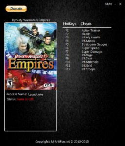 Dynasty Warriors 8: Empires Trainer +11 v1.0 {MrAntiFun}