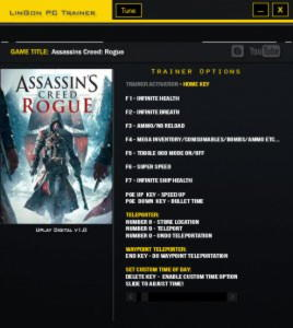 Assassin's Creed: Rogue Trainer +13 v1.0 {LinGon}
