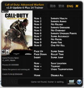 Call of Duty: Advanced Warfare Trainer +14 v1.0 Up 6 {FLiNG}