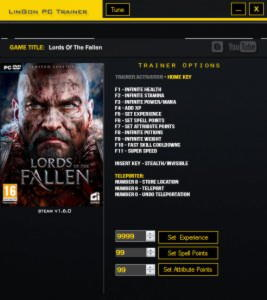 Lords of the Fallen Trainer +14 v1.6.0 {LinGon}