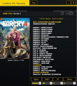 Far Cry 4 Trainer +24 v1.9.0 {LinGon}