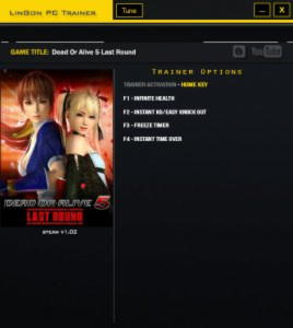 Dead or Alive 5: Last Round Trainer +4 v1.02 {LinGon}