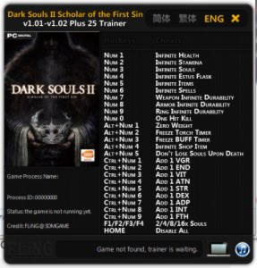 Dark Souls 2: Scholar Of The First Sin Trainer +25 v1.02 {FLiNG}