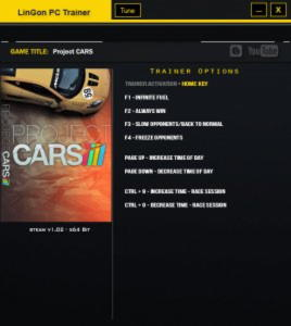 Project CARS Trainer +8 v1.02 {LinGon}