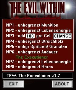 The Evil Within  The Executioner Trainer +8 v1.7 {dR.oLLe}