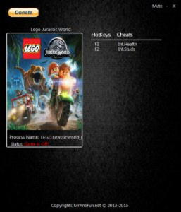 LEGO Jurassic World Trainer +2 v1.0 {MrAntiFun}
