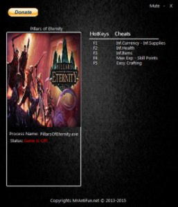 Pillars of Eternity Trainer +7 v1.0.6.0617 {MrAntiFun}