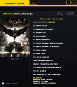 Batman: Arkham Knight Trainer +17 v1.2 {LinGon}