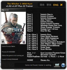 The Witcher 3: Wild Hunt Trainer +20 v1.02 - 1.07 {FLiNG}