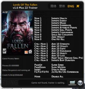 Lords of the Fallen Trainer +22 v1.6 {FLiNG}