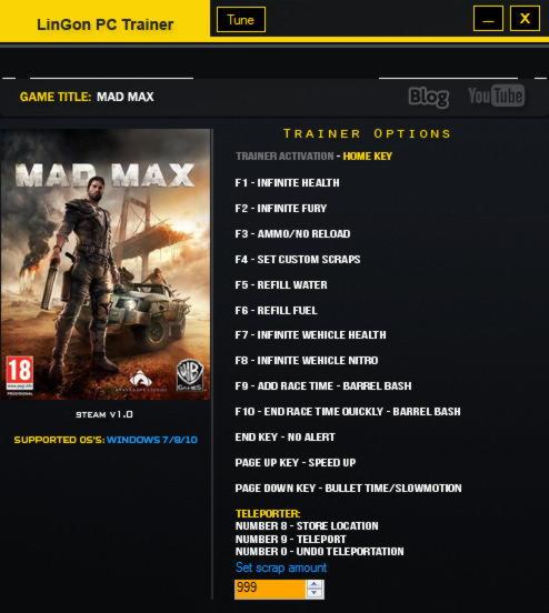 Warriors Orochi 4 V1 0 Plus 18 Trainer: Mad Max Trainer +15 V1.01 LinGon
