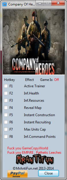 Company Of Heroes Trainer 7 V2 700 2 42 B Mrantifun Download