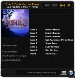 Trine 3: The Artifacts of Power Trainer +7 v1.0 Update 1 {FLING}