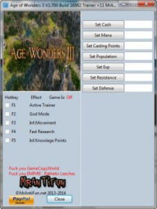 Age of Wonders 3 Trainer +11 v1.700 Build 16982 {MrAntiFun}