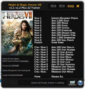 Might and Magic Heroes 7 Trainer +22 v1.1 - v.1.2 : 64 Bit {FLiNG}