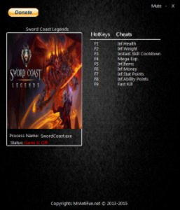 Sword Coast Legends Trainer +9 v1.00 {MrAntiFun}