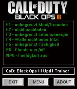 Call of Duty: Black Ops 3 Trainer +6 v1.01 {dR.oLLe}