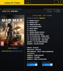 Mad Max Trainer  +18 v1.1 u4 {LinGon}