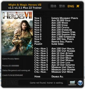 Might and Magic Heroes 7 Trainer +22 v1.1 - v.1.3.1 : 64 Bit {FLiNG}