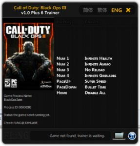 Call of Duty: Black Ops 3 Trainer +6 v1.0 {FLiNG}