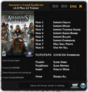 Assassin's Creed: Syndicate Trainer +12 v1.0 {FLiNG}