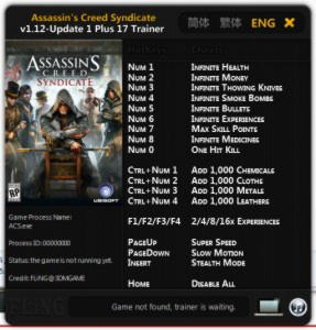 Assassin's Creed: Syndicate Trainer +17 v1.12 {FLiNG}