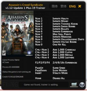 Assassin's Creed: Syndicate Trainer +19 v1.12 Update 1 {FLiNG}