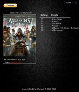 Assassin's Creed: Syndicate Trainer +7 v1.12 {MrAntiFun}