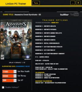 Assassin's Creed: Syndicate Trainer +17 v1.12 {LinGon}