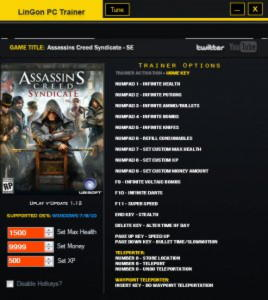Assassin's Creed: Syndicate Trainer +19 v1.12 {LinGon}