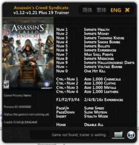 Assassin's Creed: Syndicate Trainer +19 v1.12 - 1.21 {FLiNG}