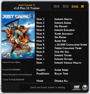 Just Cause 3 Trainer +15 v1.0 {FLiNG}