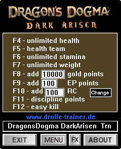 Dragons Dogma: Dark Arisen Trainer +9 v1.0 {dR.oLLe}