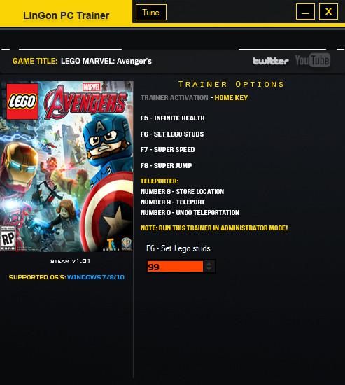 LEGO Marvel's Avengers Trainer +6 v1.1 LinGon - download cheats ...