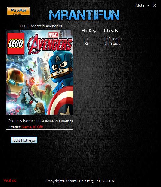 LEGO Marvel's Avengers Trainer +2 v1.00 MrAntiFun - download cheats ...