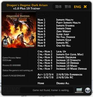 Dragons Dogma: Dark Arisen Trainer +19 v1.0 {FLiNG}