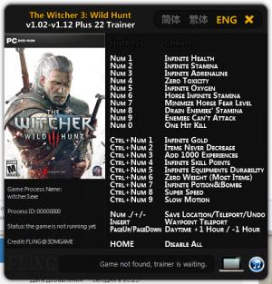 The Witcher 3: Wild Hunt Trainer +22 v1.02 - 1.12 {FLiNG}